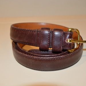 Men's Coach Heritage Brown Leather Belt Size  36